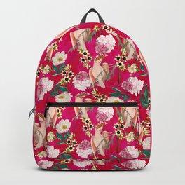Vintage & Shabby Chic - Tropical Bird Flower Garden Backpack