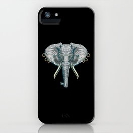 Vintage Elephant with Pierced Ears & Spectacles iPhone Case