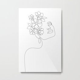 Dreamy Girl Bloom Metal Print
