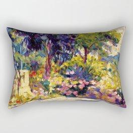 Henri Edmond Cross - The Flowered Terrace - Digital Remastered Edition Rectangular Pillow