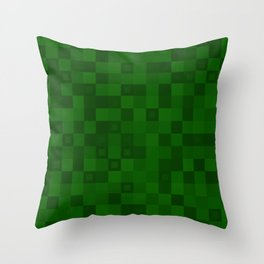 Dark tile of intersecting rectangles and strict bricks. Throw Pillow
