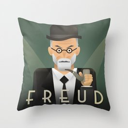 Freud Psychoanalyse Meister Throw Pillow