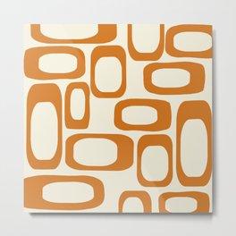 Mid Century Modern Shapes 1970s Orange #society6 #buyart  Metal Print