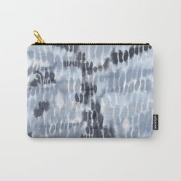 Blue Tie-Dye Squares Carry-All Pouch