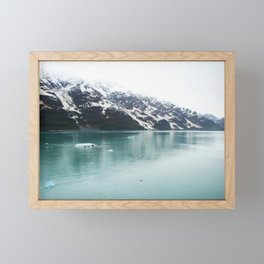 Hubbard Glacier Snowy Mountains Alaska Wilderness Framed Mini Art Print