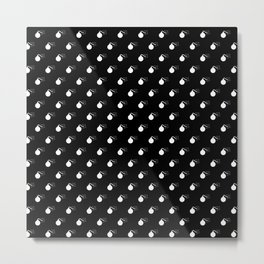 BOMB PATTERN - BLACK & WHITE - LARGE Metal Print