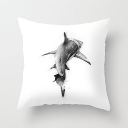 Shark II Throw Pillow