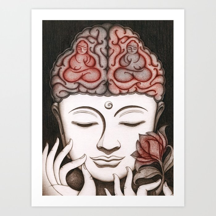 How meditation changes your brain... and makes you wiser? Art Print