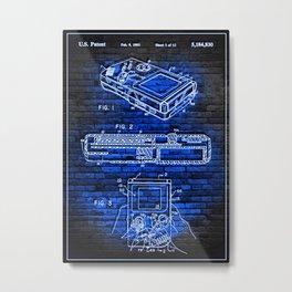 1993 game boy neon patent Metal Print