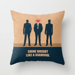 Lab No. 4 - Shine Bright Like A Diamond Corporate Startup Quotes Throw Pillow
