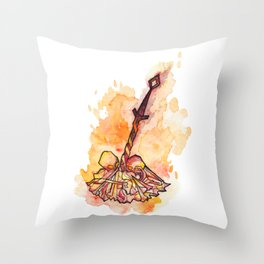 Dark Souls Bonfire Throw Pillow