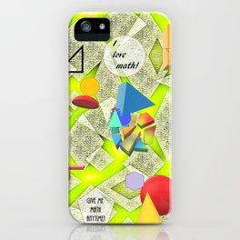 I Love Math iPhone Case