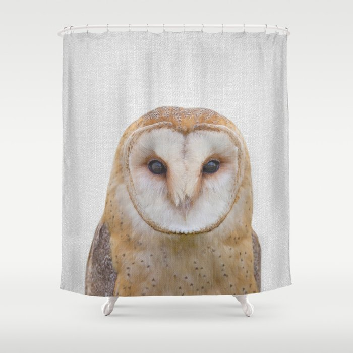 Owl - Colorful Shower Curtain