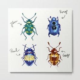 The Beetles Metal Print