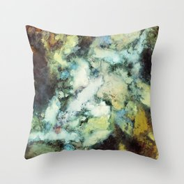 Escaping horses Throw Pillow