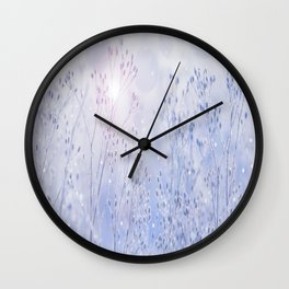 Winter Sparkle On A Sunny Frosty Day #decor #society6 #buyart Wall Clock