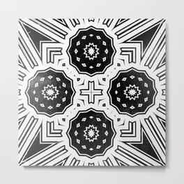 Monochrome Decorative Geometric Metal Print