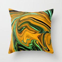 Wormhole Orange Throw Pillow