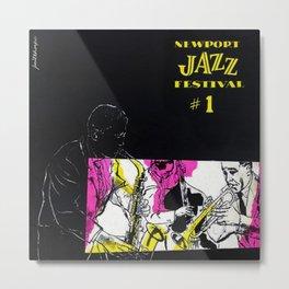 1954 Newport Jazz Festival Vintage Advertisement Poster Newport, Rhode Island Metal Print