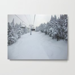 Skiing Vermont Metal Print