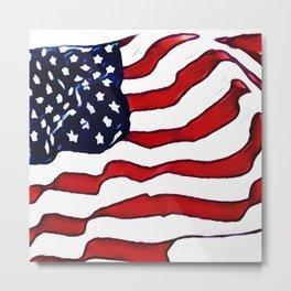 Flag - US Flag - American Flag Blowing in the Wind Metal Print