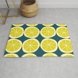 Modern Yellow Lemon Pattern Rug