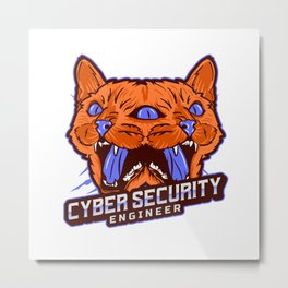 Cyber Security Engineer - Solve Problems Metal Print
