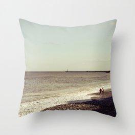 Seaham Beach Throw Pillow