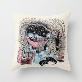 Cotton Ball Dreams Throw Pillow