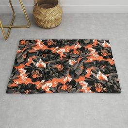 Mount Cook Lily - Orange/Black Rug