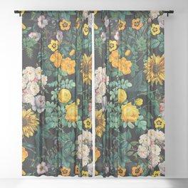 Midnight Garden XX Sheer Curtain