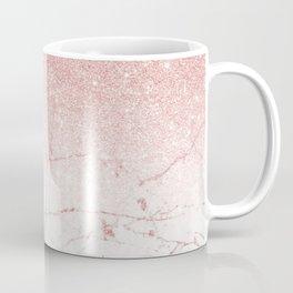 Rose Glitter Pink Marble Coffee Mug