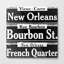 New Orleans French Quarters Metal Print