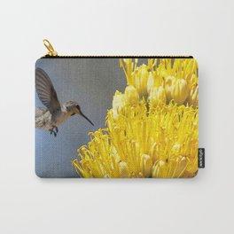 Watercolor Bird, Anna's Hummingbird 02, on Agave, Ventana Canyon, Arizona, Hi, Sunshine! Carry-All Pouch