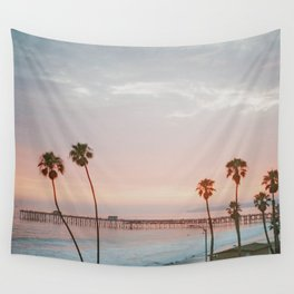 palm trees sunset vi / san clemente, california Wall Tapestry