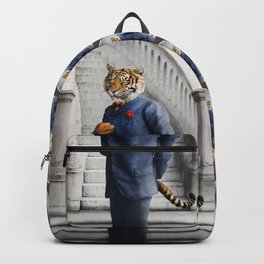 Tobias Tiger in the Entry Hall Backpack
