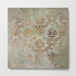 Aged Damask Texture 3 Metal Print
