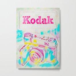 Psychedelic Kodak Metal Print