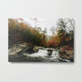 Baby Falls, Cherokee National Forest Metal Print