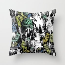 Gone in a splash. Color. Throw Pillow