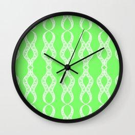 Lime Twist Wall Clock