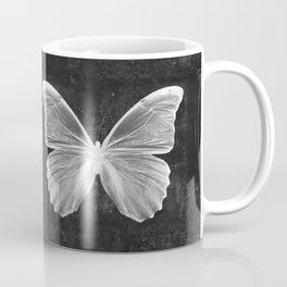 Butterfly in Black Coffee Mug