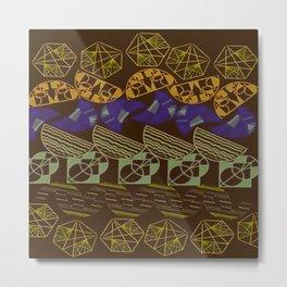 Facetnating Darkmode Geometric Shapes Metal Print