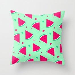 Cute Seamless Watermelon Pattern Throw Pillow