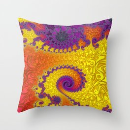 Royal Hippy - Fractal Art  Throw Pillow