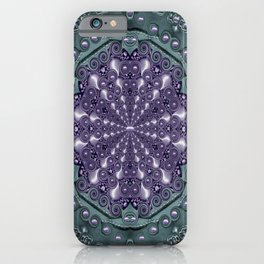 Star and flower mandala in wonderful colors iPhone Case