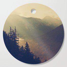 Sunrise over the Mountians Cutting Board