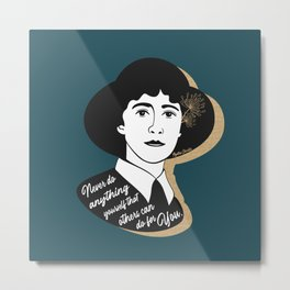 Never Do Anything Yourself - Agatha Christie - Teal Metal Print