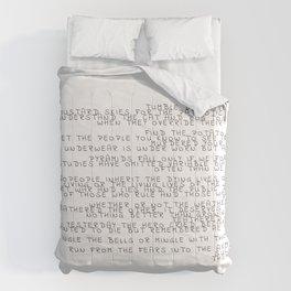 random words and words Comforters