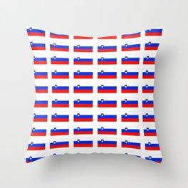 flag of slovenia - slovenia, slovenian,Slovene, Slovenija,Ljubljana,yugoslavia. Throw Pillow